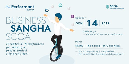 Business Sangha SCOA - Incontro di mindfulness per manager, professionisti
