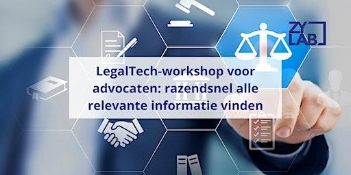 LegalTech-workshop voor advocaten - 20 maart 2020