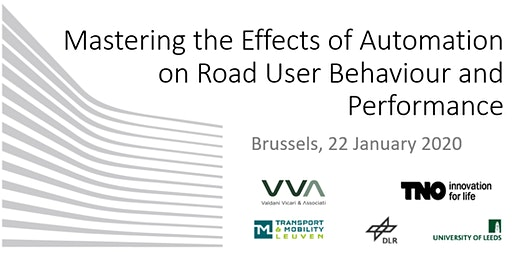 Mastering the Effects of Automation on Road User Behaviour and Performance