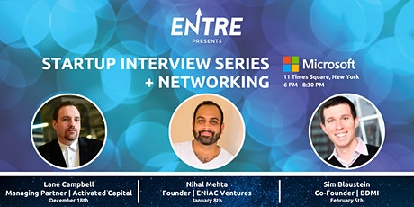Startup Interview Series + Networking tickets