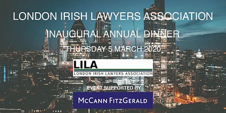 Inaugural London Irish Lawyers Association Annual Dinner 2020 tickets