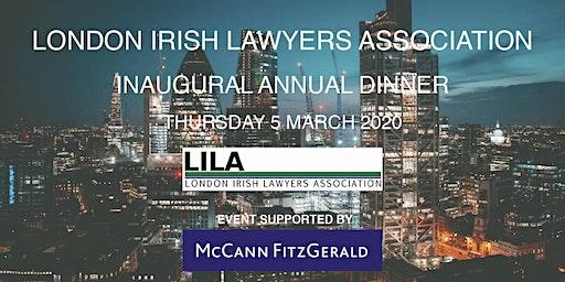 Inaugural London Irish Lawyers Association Annual Dinner 2020