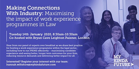 Maximising Impact of Work Experience Programmes in Law tickets