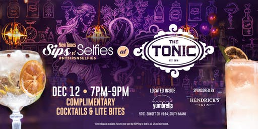 Sips N Selfies at The Tonic at Yumbrella Food Hall!