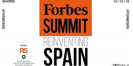 Forbes Summit Reinventing Spain 2019 entradas