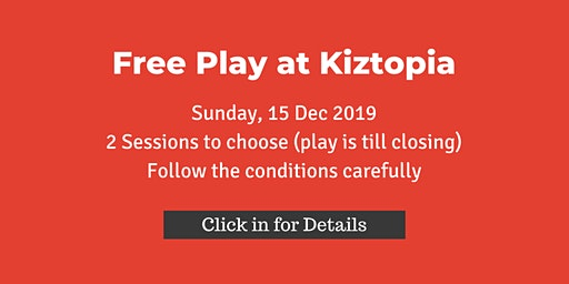 Free Play at Kiztopia , Sun 15 Dec, by ATO Partners