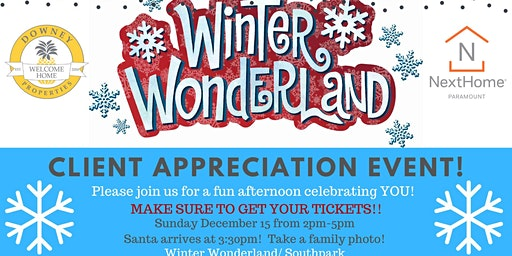 Ice Skate and meet Santa/ Client Appreciation Party!