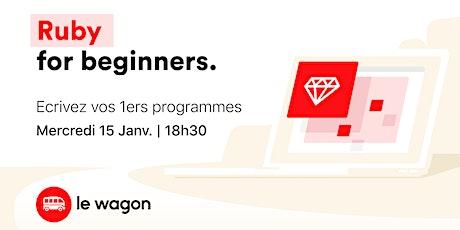 Workshop : Ruby for Beginners billets