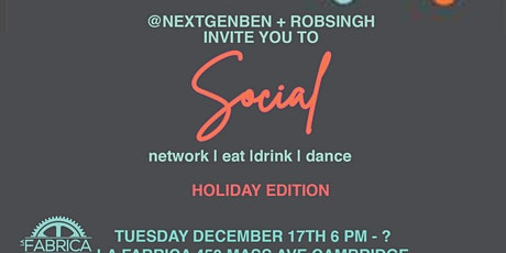 Social Professional Networking + Socialzing Event tickets