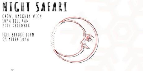 NIGHT SAFARI IV // WORLD, HOUSE & DISCO tickets