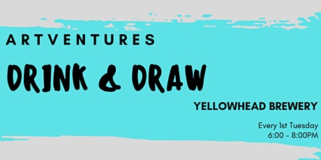 ArtVentures Drink & Draw: Illuminated Monograms tickets