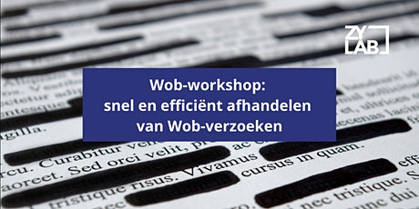 Wob-workshop - 16 april 2020 tickets