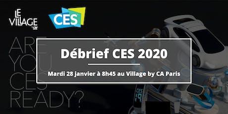 Débrief CES 2020 tickets