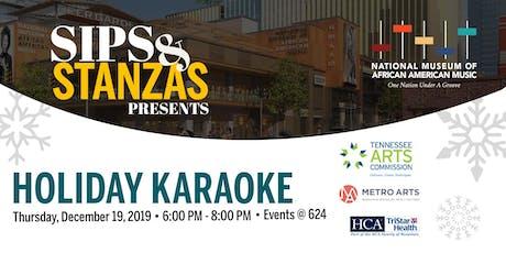 Sips & Stanzas Presents Holiday Karaoke tickets