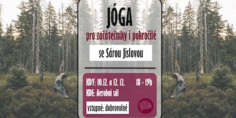 Jóga se Sárou v Aerobním sále 10.12. tickets