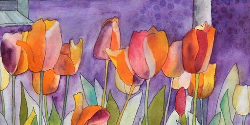 Watercolor Class: H2OH! Falling Water; Friday April 24, 1:30-3:30pm