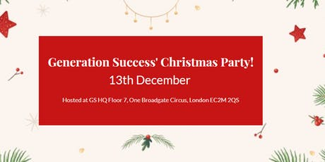 Generation Success Christmas Party with special guests  tickets