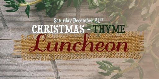 Christmas-Thyme Luncheon