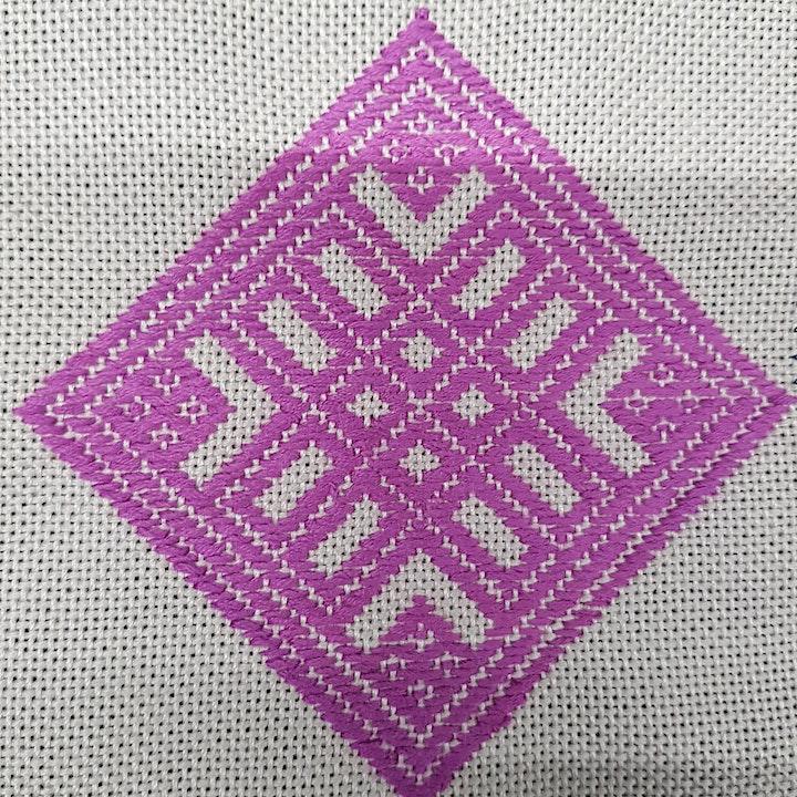 Kogin hand embroidery workshop image
