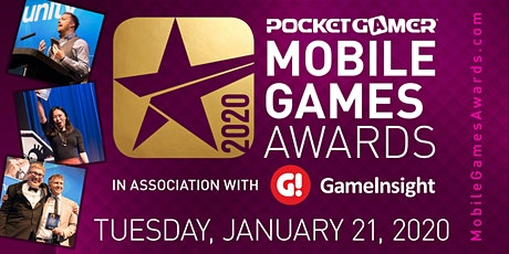 The Pocket Gamer Mobile Games Awards 2020 tickets