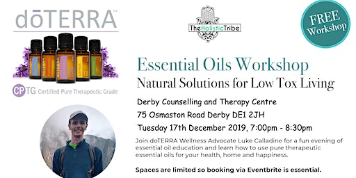Essential Oils Workshop - Natural Solutions for Low Tox Living