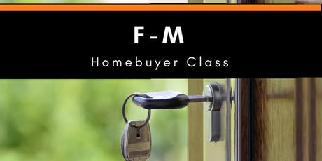 January F-M Homebuyer Class tickets