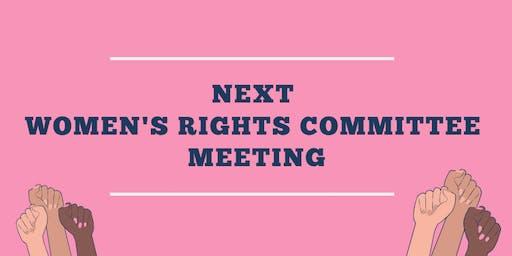 Women's Rights Committee Meeting - December 16