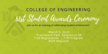 College of Engineering 61st Annual Awards Ceremony tickets