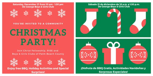 Community Christmas Party and Child Gift Giveaway