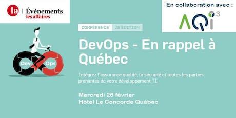 Conférence DevOps - Événements Les Affaires billets