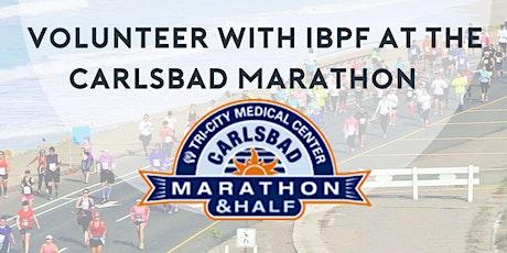 Volunteer at the Carlsbad Marathon with IBPF tickets