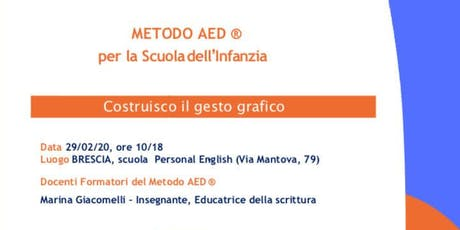 Costruisco il gesto grafico - Metodo AED Scuola dell'Infanzia biglietti