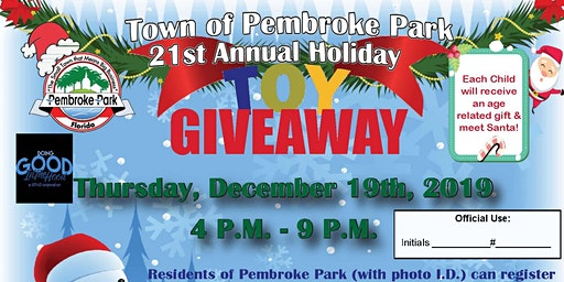 Town of Pembroke Park 21st Annual Holiday Toy Giveaway