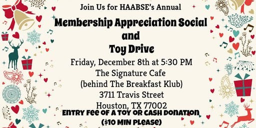 HAABSE Membership Appreciation Social and Toy Drive
