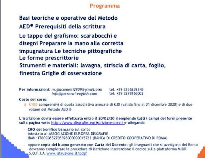 Immagine Costruisco il gesto grafico - Metodo AED Scuola dell'Infanzia- ANNULLATO
