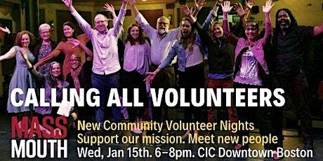 Massmouth Volunteer Night - January tickets