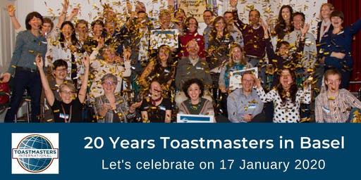 Jubilee: 20 Years Toastmasters in Basel