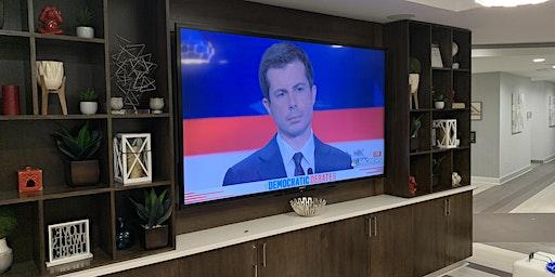 """December Democratic Debate Party - 80"""" TV"""