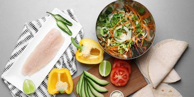 Budget Cooking at the Co-op: Fish Taco Bowl with Charred Corn & Cilantro Lime Sour Cream