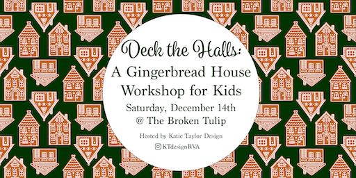 Deck the Halls: Gingerbread House Decorating Workshop for Kids
