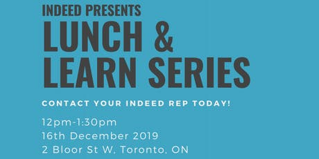 Indeed Lunch & Learn (Staffing Edition) tickets