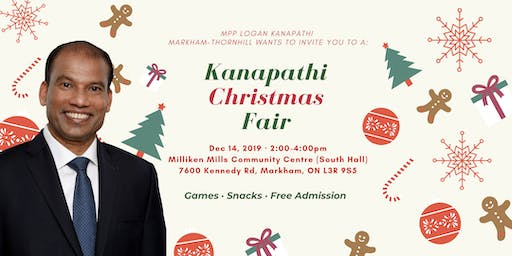 MPP Logan Kanapathi Markham-Thornhill Christmas Fair