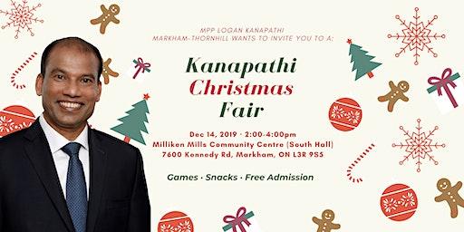 MPP Logan Kanapathi Markham-Thornhill Christmas Fair