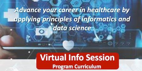 Virtual Info Session - Georgetown Health Informatics & Data Science tickets