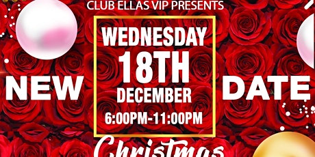 CLUB ELLAS VIP 5000 Roses & Champagne Red & Gold  Holiday Party tickets