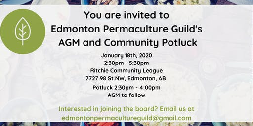 Edmonton Permaculture Guild AGM and Community Potluck