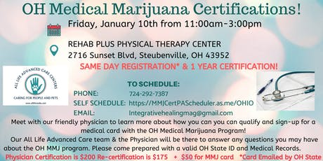 Ohio Medical Marijuana Certifications tickets