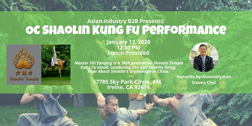AIB2B Presents Shaolin Kung Fu Temple Performance (Lunch Provided)
