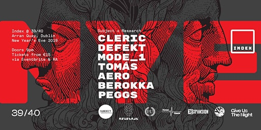 Index New Years Eve: Cleric / DeFeKT / Mode_1 / Tomás + more