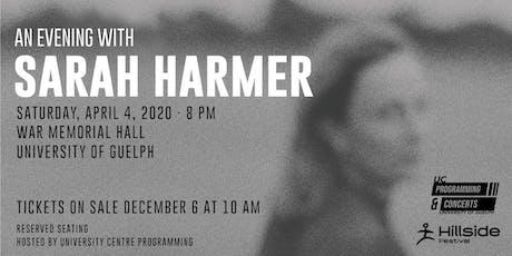 An Evening with Sarah Harmer tickets